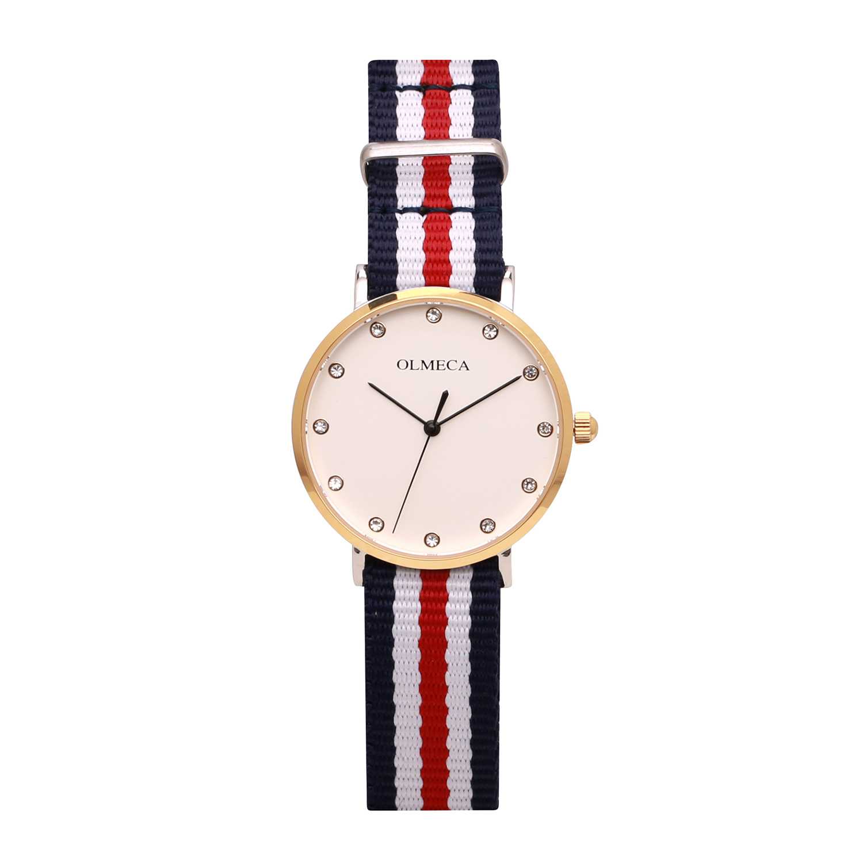 Ultra-thin gold lady diamond watch